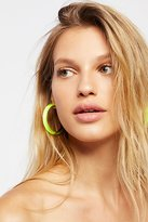 Alexis Bittar Lucite Neon Hoops by at Free People