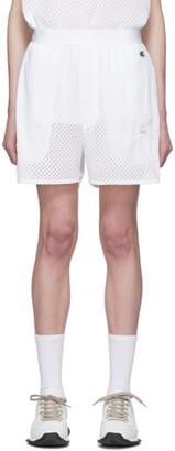 Rick Owens White Champion Edition Mesh Basketball Shorts