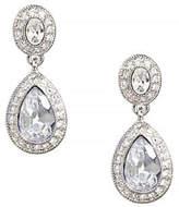 Carolee Double Drop Crystal Earring