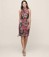 Reiss Xavi Burnout-Detail Dress