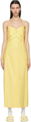 MM6 MAISON MARGIELA Yellow Faux-Leather Slip Dress
