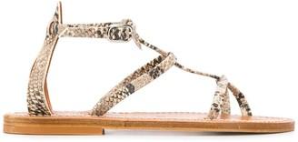K. Jacques Snake Print Sandals