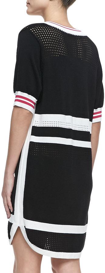 Rebecca Minkoff Striped Mesh Dress