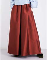 Merchant Archive Wide-leg satin-twill trousers