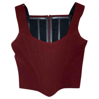 Vivienne Westwood Burgundy Wool Top for Women Vintage