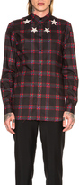 Givenchy Star Bleach Plaid Shirt