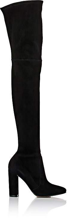 Gianvito Rossi WOMEN'S LINLEY SUEDE OVER-THE-KNEE BOOTS