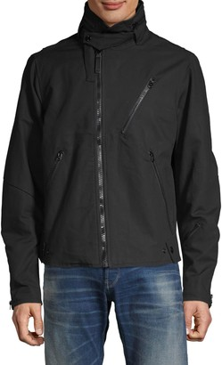 G Star Raw Hooded Zip-Front Cotton Jacket