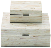 Wooden Inlay Boxes (Set of 2)