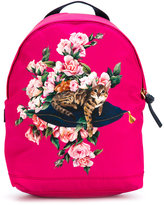Dolce & Gabbana floral print backpack - kids - Leather/Polyamide - One Size