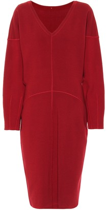 Alaia Drop-shoulder knit dress