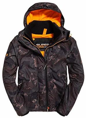 Superdry Men's Arctic Hooded Print Pop Zip SD-Windcheater Jacket