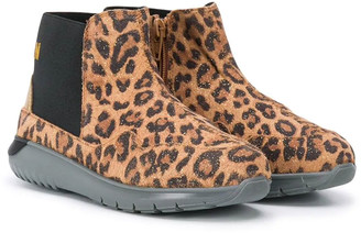 Hogan Leopard Print Ankle Boots