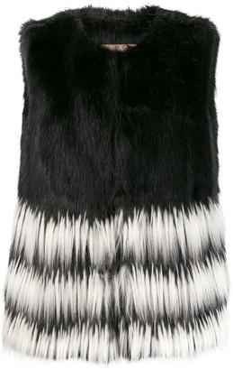 Twin-Set Long Faux-Fur Gilet