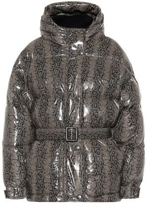 Ienki Ienki Michlin snake-effect puffer jacket