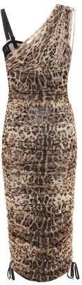 Dolce & Gabbana Leopard cotton and silk dress