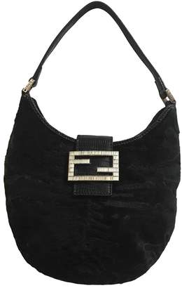 Fendi \N Black Velvet Clutch bags