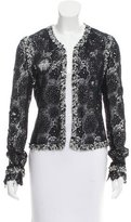 Chanel Lace Tweed-Trimmed Jacket