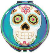 Betsey Johnson Oilslick-Tone Multi-Stone Sugar Skull Compact Mirror