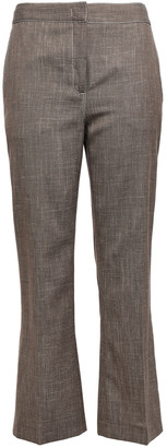 CASASOLA Wool, Silk And Linen-blend Kick-flare Pants