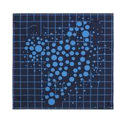 Vivienne Westwood Dots Pocket Square Blue Size H 44cm x W 44cm