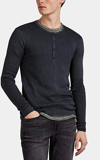 38530023282 Men's Long Sleeve Ribbed Henley - ShopStyle UK