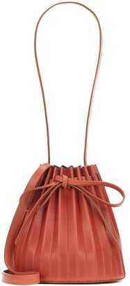 Mansur Gavriel Pleated Bucket leather crossbody bag