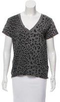 Current/Elliott Leopard Print V-Neck T-Shirt w/ Tags