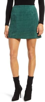Lulus High Class Corduroy Mini Skirt