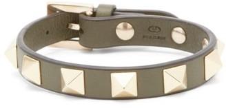 Valentino Rockstud Leather Bracelet - Green