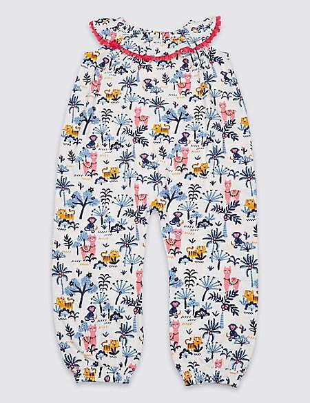 Marks and Spencer Pure Cotton Jumpsuit (3 Months - 7 Years)