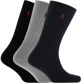Ralph Lauren 3 Pack Socks Black