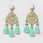 SUGARFIX by BaubleBar Filigree Tassel Drop Earrings