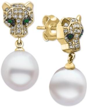 Effy Multi-Gemstone Panther Drop Earrings in 14k Gold