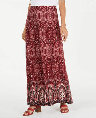 Style&Co. Style & Co Petite Printed Maxi Skirt
