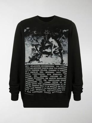 Rick Owens Bold Print Sweater