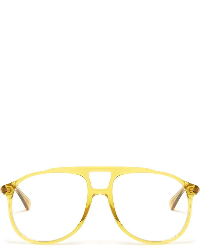Gucci Aviator acetate glasses