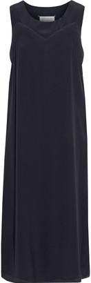 Maison Margiela Silk Crepe De Chine Midi Dress