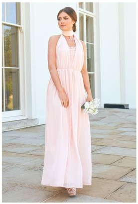 Sistaglam Muli Blush/pink Bandeaux Maxi Dress