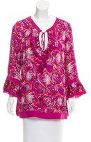 Tory Burch Silk-Trimmed Gwena Tunic w/ Tags