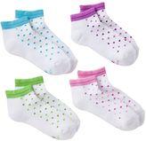 Hanes Girls 4-pk. Dot Low-Cut Socks