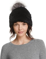 Surell Rabbit Fur Beanie with Pom-Pom - 100% Bloomingdale's Exclusive