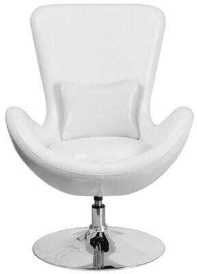 Orren Ellis Derun Guest Lounge Chair Seat Color: Gray, Seat Material: Leather/Faux Leather