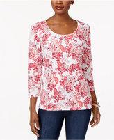 Karen Scott Petite Printed Top, Created for Macy's
