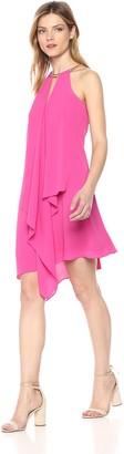 Calvin Klein Kensie Women's Gold Chain Halter Neck Dress