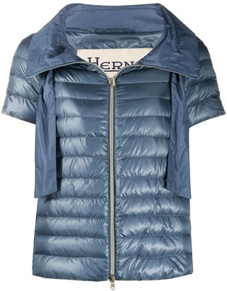 Herno Short-Sleeved Funnel-Neck Puffer Jacket