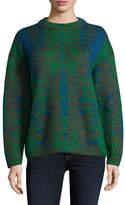 M Missoni Women's Mohair Plaid Crewneck Sweater