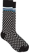 Barneys New York MEN'S POLKA DOT COTTON-BLEND MID-CALF SOCKS
