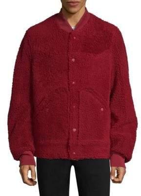 Bally Reversible Shearling Fur Bomber Jacket