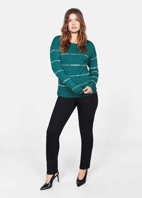 MANGO Metallic appliques sweater